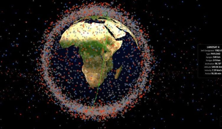 Site mostra em tempo real todos os objetos que orbitam a Terra